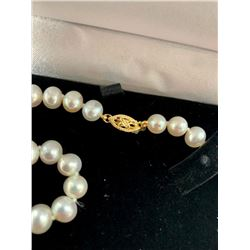 Classic Akoya Pearl Ladies Necklace AAA+ Grade Pearls