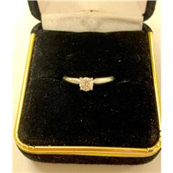 14KT White Gold Ladies Hand Assembled Custom Made Diamond Solitaire Engagement Ring