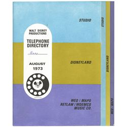 1973 Walt Disney Productions Telephone Directory.