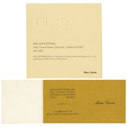 Pair of Marc Davis Imagineering Business Cards.
