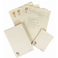 Set of Harper Goff Personal Letterhead & Notepads.