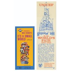 World's Fair It's A Small World Ticket & Bookmark.