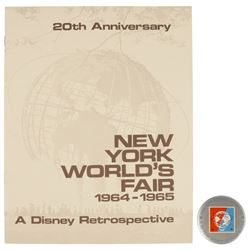 World's Fair 20th Anniversary Retrospective Book & Pin.