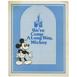 """We've Come A Long Way, Mickey"" Folder."