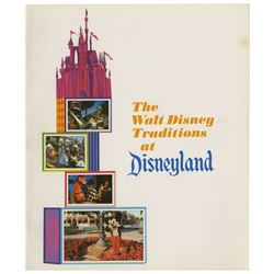 """The Walt Disney Traditions at Disneyland"" Booklet."