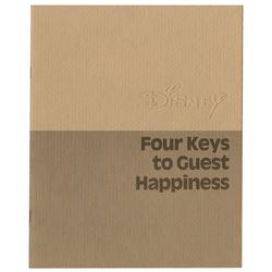 """Four Keys to Guest Happiness"" Booklet."