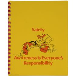 Safety Awareness Cast Member Booklet.