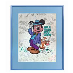Disney University Multi-Signed Goodbye Card.