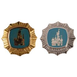 Pair of Disneyland Service Award Pins.