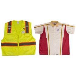 Disneyland Work Shirt & Yellow Safety Vest.