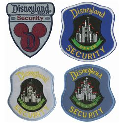 Group of (4) Disneyland Security Patches.