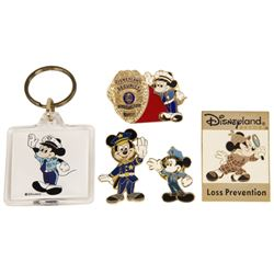 Collection of Disneyland Security Guard Pins.