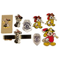 Collection of Cast Member Fire Department Pins.