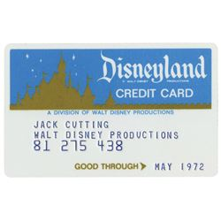 Walt Disney Productions Disneyland Credit Card.