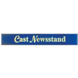 Cast Newsstand Metal Sign.