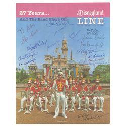"""""""Disneyland Line"""" Disneyland Band Signed Magazine."""
