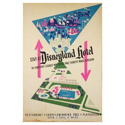 Park-Used Disneyland Hotel Attraction Poster.