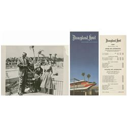 Walt Disney Publicity Photo & Hotel Brochure.