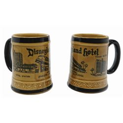 Pair of Disneyland Hotel Coffee Mugs.