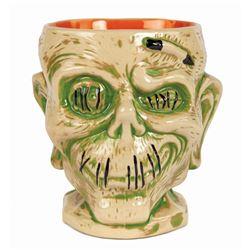 Trader Sam's Shrunken Zombie Head Tiki Mug.