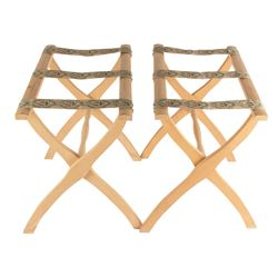 Pair of Disneyland Hotel Folding Luggage Racks.