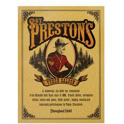 Sgt. Preston's Yukon Saloon Disneyland Hotel Poster.