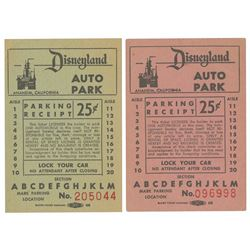 Pair of 1955 Disneyland Parking Tickets.