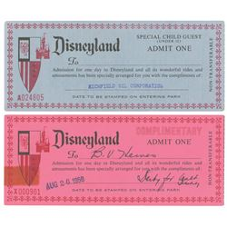 Pair of Vintage Disneyland Complimentary Passports.