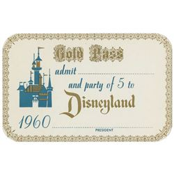 1960 Disneyland Gold Pass.