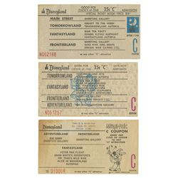 "Group of (3) Disneyland Special Event ""C"" Ride Tickets."