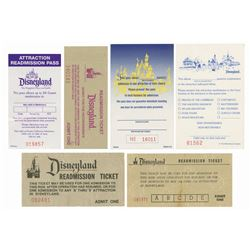 Collection of (6) Attraction Readmission Tickets.