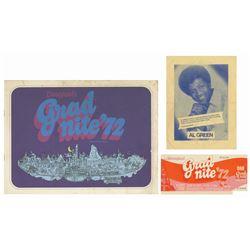 Collection of (3) Grad Nite '72 Souvenirs.
