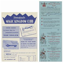 Magic Kingdom Club Card & Flyer.