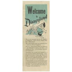 Welcome to Disneyland Opening Year Gate Flyer.