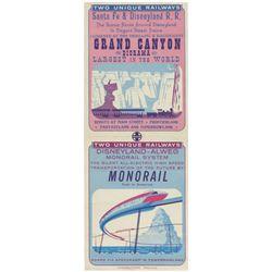Grand Canyon Diorama & Monorail Gate Flyer.