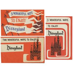 Lot of (3) Wonderful Ways to Enjoy Disneyland Flyers.