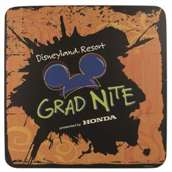 Disneyland Resort Grad Nite Sign.