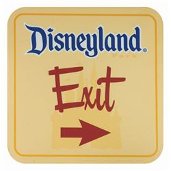 Disneyland Park Exit Sign.