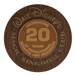 Magic Kingdom Club 20 Year Anniversary Plaque.