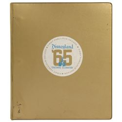 Press Binder for Disneyland Tencennial Celebration.