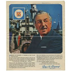 Disneyland Tencennial Newspaper Supplement.