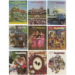 Set of (9) Signed Vacationland Magazines.