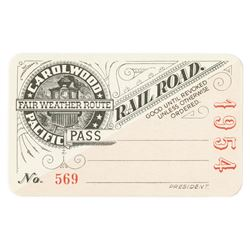 1954 Carolwood Pacific Railroad Pass.