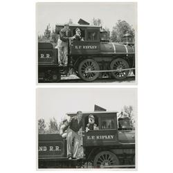 Pair of Walt on the E.P. Ripley Train Photos.