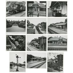 Group of (12) Santa Fe & Disneyland Railroad Photos.