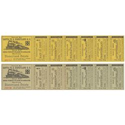 Pair of Santa Fe & Disneyland R.R. Series 2 Tickets.