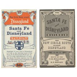 Pair of Santa Fe & Disneyland Railroad Maps.