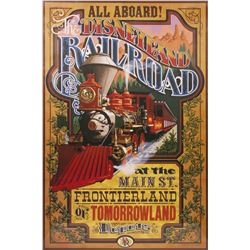Disneyland Railroad Printed Attraction Poster.