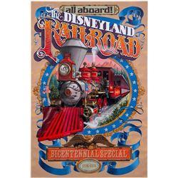 Disneyland Railroad Bicentennial Special Poster.