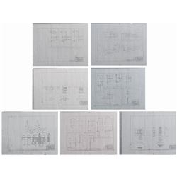 Set of (7) Harper Goff Main Street Blueprints.
